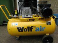 Wolf Dokota 90 Litre 14CFM 150 psi 240v Air Compressor.