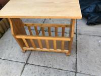 Solid wood magazine rack/table