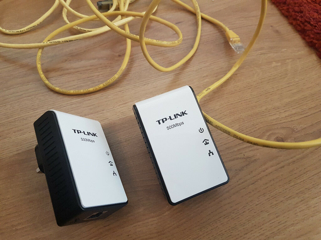 TP-LINK TL-PA4010KIT AV500 500 Mbps 2 PACK MAINS NETWORKING GOOD CONDITION! ONLY £10 EACH!