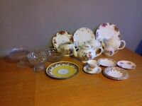 Vintage Crockery job lot or individual pieces for sale (contact for individual prices).