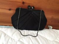 Jasper conran evening bag in black satin