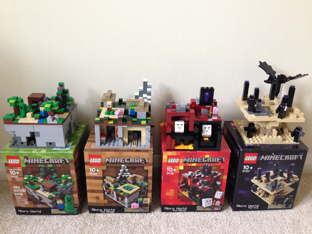 Lego Minecraft Micro Worlds 4 Sets Excellent Condition Boxed With