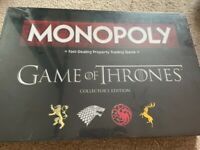 New unopened game of thrones monopoly