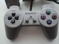 playstation 1 controllers (grey) for sale £4.00 each or 3 for £9.99(pre-owned and used)