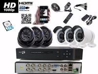 6 Full HD CCTV Cameras Package Clear Image Night Vision +2TB HDD