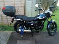 2016 Lexmoto zsb 125cc motorbike, only covered 544 miles also free delivery