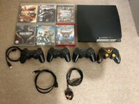 Playstation 3, 6 Games and 4 Controllers