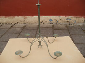 Hand made Iron Chandelier for candles