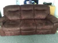 DFS reclining sofa 3 seater