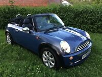 Mini Convertible, full service history, MOT April 2018, 2 keys, parking sensors, half leather.