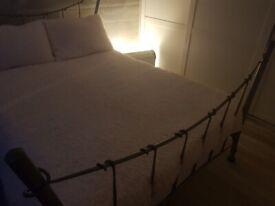 Designer metal double bed .