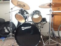 Premier Drum Kit with Sabian + Paiste Cymbals
