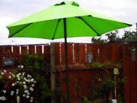 Lime Green Garden Umbrella