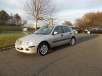 ROVER 25 IXL HATCHBACK 5 DOOR 1.6 SILVER 78K MILES 2002 BARGAIN ONLY 450 *LOOK* PX/DELIVERY
