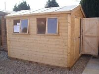 NEW T&G CLADDED HEAVY DUTY WORKSHOP ERECTED FOR FREE