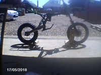Pit Bike rolling chassis / frame suspension wheels