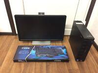 Gaming Media Computer PC Bundle Monitor (Intel Core 2 Duo, 4GB RAM, 160GB HD, AMD Radeon R5 230 2GB)