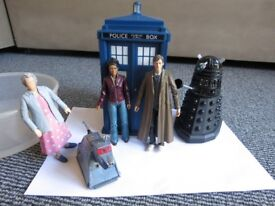 Dr Who Figures and Tardis Money Box