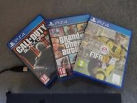 PS4 (Sony Playstation 4) with 3 games