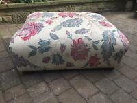 Stunning Footstool Coffee Table Zoffany Fabric Foot Stool Pouffe