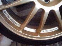 """19"""" OZ Superleggra Gold Alloy Wheels 5X100"""