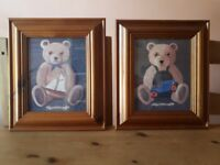 Teddy Bear Canvas set (x 2)