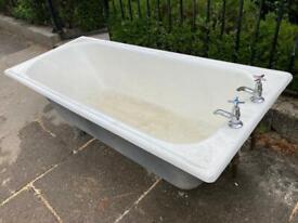 Free to uplift - Large cast iron bath