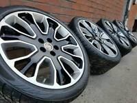 "GENUINE OVERFINCH 22"" ELARA ALLOY WHEELS & TYRES 5X120 RANGE ROVER SPORT VOGUE DISCOVERY VW T5"