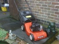 PETROL MOWER WITH GRASS BOX £40