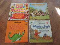 4 x Walt Disney Children's Vinyl Records