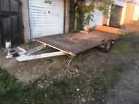 Car trailer flatbed transporter