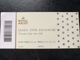 FOUR Royal Ascot tkts - Ladies Day, 22 June 2017, Queen Anne Enclosure - Officially Sold Out