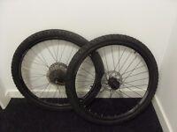 Mountain bicycle wheelset.(disc brakes only)