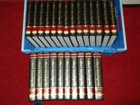 full set of hard back encyclopedias.COLLIERS.