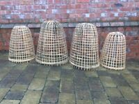 Large Bamboo cloches x4