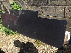 Granite black sparkly/mirror worktop