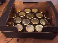 18 hexagonal jam jars