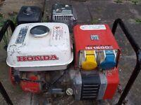 Honda 110v petrol generator