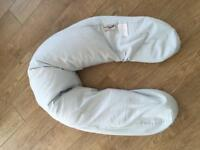 Theraline The original maternity and nursing pillow with blue cover