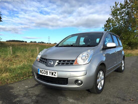 Nissan Note Acenta 1.4 16v Petrol. Silver 5Dr 2008 47k miles! (Very low mileage) £2795