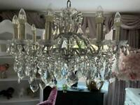 Stunning 3ft wide glass crystal chandelier