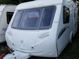 2008 Sterling Europa 460 2 Berth End Washroom Caravan with Motor Mover