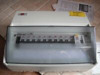 Consumer Unit RCD Fuse Box Wylex 11 Way with 10 MCB's, Brand New