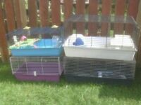 RABBIT OR GUINEA PIG CAGES £20 ALSO HAMSTER CAGE £15