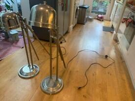 vintage industrial lamps, recently rewired