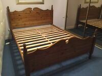 Quality Pinewood King Size bed frame - excellent condition