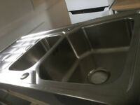 Stainless Steel 1 1/2 bowl kitchen sink