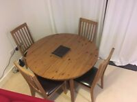 Extendable IKEA Dining Table with 6 chairs