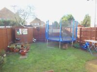 2 bedroom ground floor maisonette with a private garden and driveway for 2 cars .