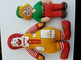 Vintage advertising soft toys